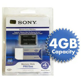 *4 GB* SONY MEMORY STICK PRO DUO PSP