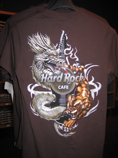 HARD ROCK CAFE WARSAW T-SHIRT Tiger Dragon