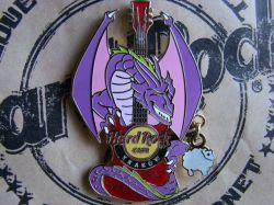 Hard Rock Cafe KRAKOW '08 Dragon Guitar Pin