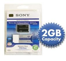 *2 GB* SONY MEMORY STICK PRO DUO PSP