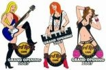 Hard Rock Cafe WARSAW '07 Grand Opening GO Girls Set 3 pin