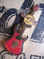 Hard Rock Cafe WARSAW - 2007 - Core Guitar red #1 Pin
