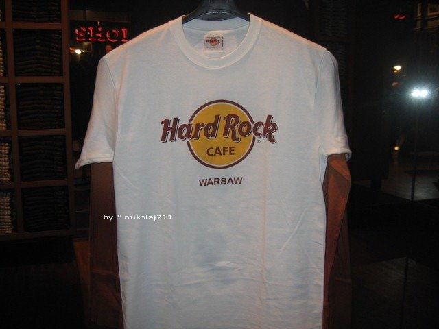 Hard Rock Cafe Krakow T Shirt Classic Tee White Odziez