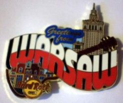 Hard Rock Cafe WARSAW '07 Greetings from... Pin NEW LE 250
