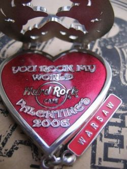 Hard Rock Cafe WARSAW ♥ 2008 Valentine's Day pin LE 300