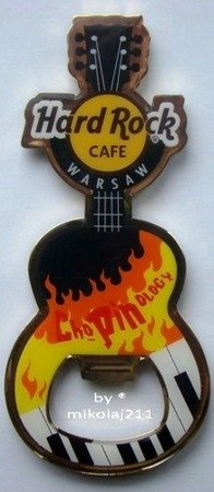 Hard Rock Cafe WARSAW 2013 Guitar Magnet ChoPINoLogy Opener