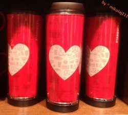 Starbucks CREATE YOUR OWN TUMBLER Valentins Kubek Termiczny Mug 12 oz. 355L