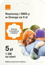 SIM Card PrePaid Orange POP 5 PLN