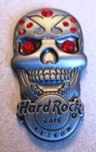 Hard Rock Cafe KRAKOW 2012 Skull red gemstone Pin LE 100