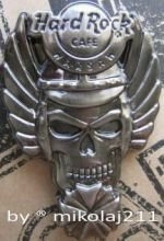Hard Rock Cafe WARSAW 2007 Winged 3D Silver Skull Serie Pin LE 300