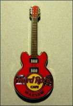 Hard Rock Cafe WARSAW 2012 Core Guitar red #1 Pin