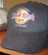 Hard Rock Cafe WARSAW BASEBALL CAP Black Hat NEW