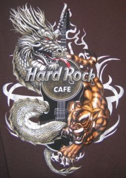 HARD ROCK CAFE WARSAW 2007 T-SHIRT Tiger Dragon size -S-
