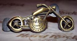 Hard Rock Cafe KRAKOW '08 3-D Chopper Bronze Pin LE 100