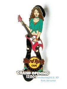 Hard Rock Cafe KRAKOW '09 Grand Opening Girl #3 Pin LE 500