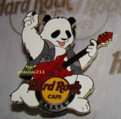 Hard Rock Cafe WARSAW '09 PANDA bear pin LE 200