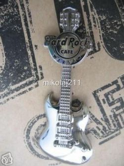 Hard Rock Cafe WARSAW 2007 silver 3D Guitar LE 150