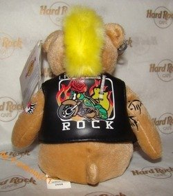 Hard Rock Cafe WARSAW 2008 Punk Teddy Plush Bear LE