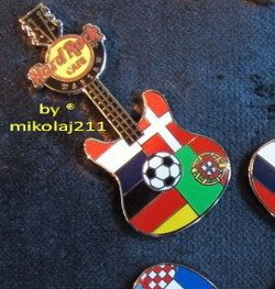 Hard Rock Cafe WARSAW 2012 Euro Football Group B Pin LE 100