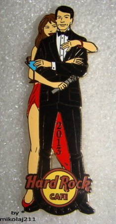Hard Rock Cafe WARSAW 2013 New Year's Eve - James Bond Pin LE 300