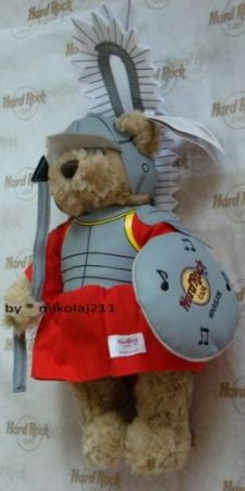 Hard Rock Cafe WARSAW Plush Warrior Bear