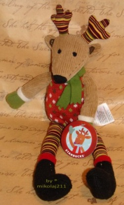 Starbucks Bearista Reindeer 2010 Renifer