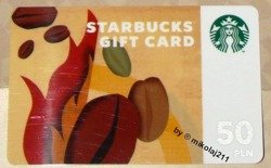 Starbucks POLAND Warsaw Polen 2012 Collectors Gift Card 50PLN Prototype - Proof