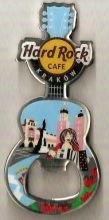 Hard Rock Cafe KRAKOW 2010 Guitar Magnet Bottle Opener