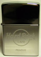 Hard Rock Cafe PRAGUE ZIPPO Lighter Chrome