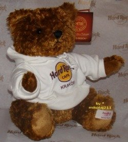 Hard Rock Cafe KRAKOW 2010 Hoodie Teddy Plush Bear LE