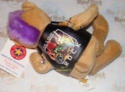 Hard Rock Cafe KRAKOW 2010 Punk Teddy Plush Bear LE
