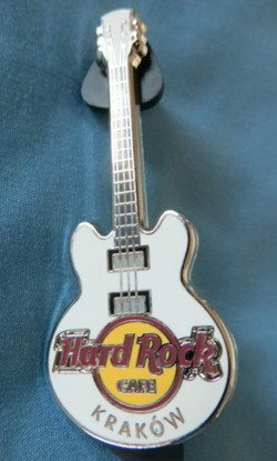 Hard Rock Cafe KRAKOW 2012 Core Guitar white #1 Pin