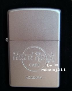 Hard Rock Cafe KRAKOW ZIPPO Lighter matt-satin