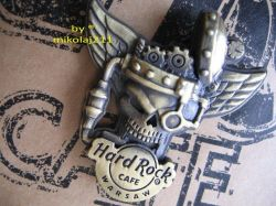 Hard Rock Cafe WARSAW '07 Winged Skull 3-D pin LE 300