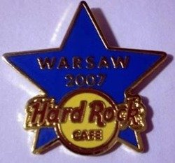 Hard Rock Cafe WARSAW 2007 Blue Training Star Pin LE 50