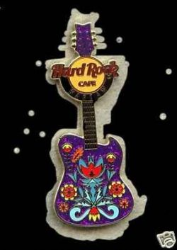 Hard Rock Cafe WARSAW 2008 FOLK ART Guitar pin LE 250