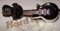 Hard Rock Cafe WARSAW 2008 Silver 3D Guitar Pin #2