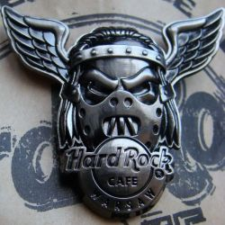 Hard Rock Cafe WARSAW 2008 Skull Wing Black pin LE 300