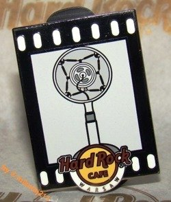 Hard Rock Cafe WARSAW 2011 Microphones Pin 1920