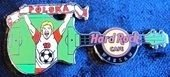 Hard Rock Cafe WARSAW 2012 Football EURO Pin LE 200