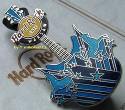 Hard Rock Cafe WARSAW 2012 Unicorn Guitar Pin LE