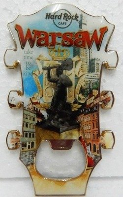 Hard Rock Cafe WARSAW 2013 Guitar Magnet Bottle Opener