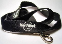 Hard Rock Cafe WARSAW Smycz - Black Neck Strap Lanyard for Pin and Card
