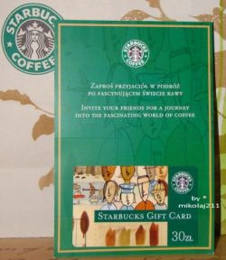Starbucks POLAND Warsaw 2010 gift card 30 PLN - Valid - full