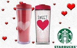 Starbucks TUMBLER Valentins Sweetheart Kubek Termiczny Collectors City Mug 12 oz. 355L
