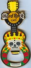 Hard Rock Cafe KRAKOW 2012 Guitar Magnet Bottle Skull Opener