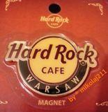 Hard Rock Cafe WARSAW Classic Logo Magnet
