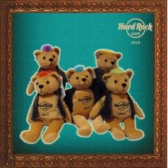 5 bears with different hairdue. sold separately
