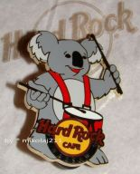 Hard Rock Cafe WARSAW '09 Koala Playing Drums Pin LE 200