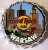 Hard Rock Cafe WARSAW 2007 Bottle Cap Pin LE 150